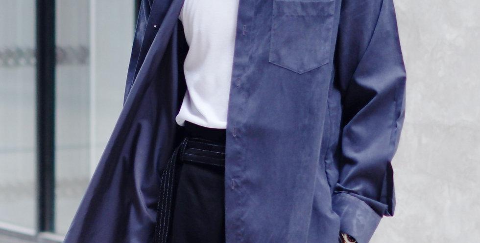 Curve Shirt Long Sleeves (Navy)