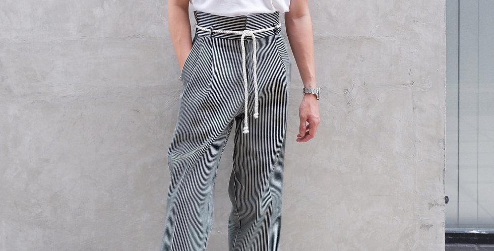 Waisted Pants Line Denim