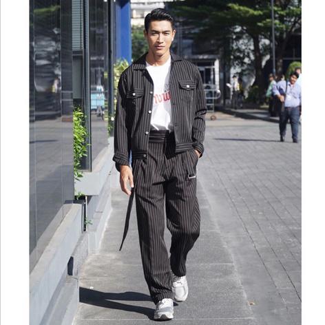 @golf__anuwat wearing total look from Hunter Studios