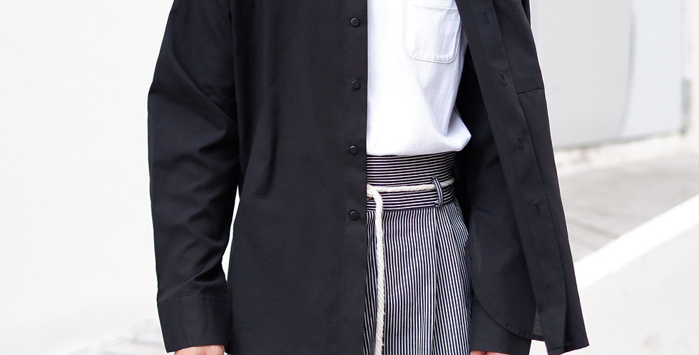 Curve Shirt Long Sleeves (Black)