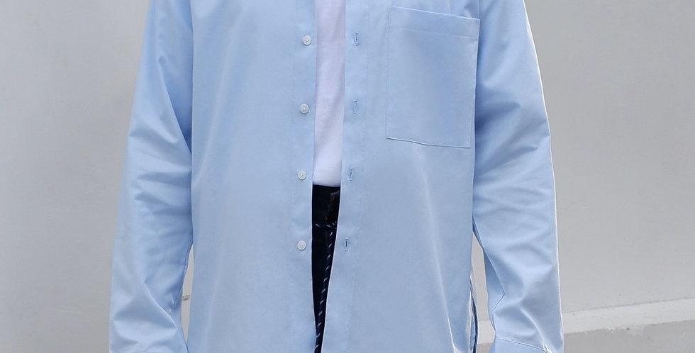Curve Long Shirt Blue