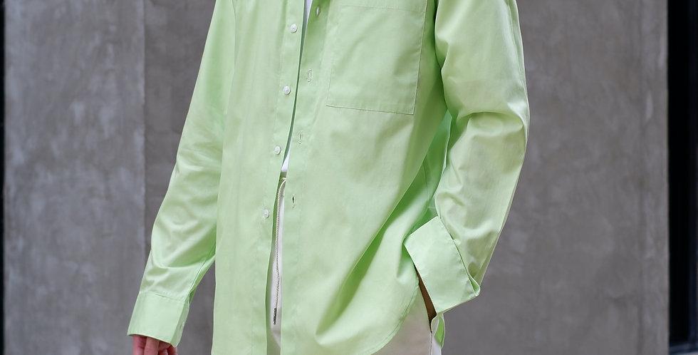 Curve Long Shirt Neon Green