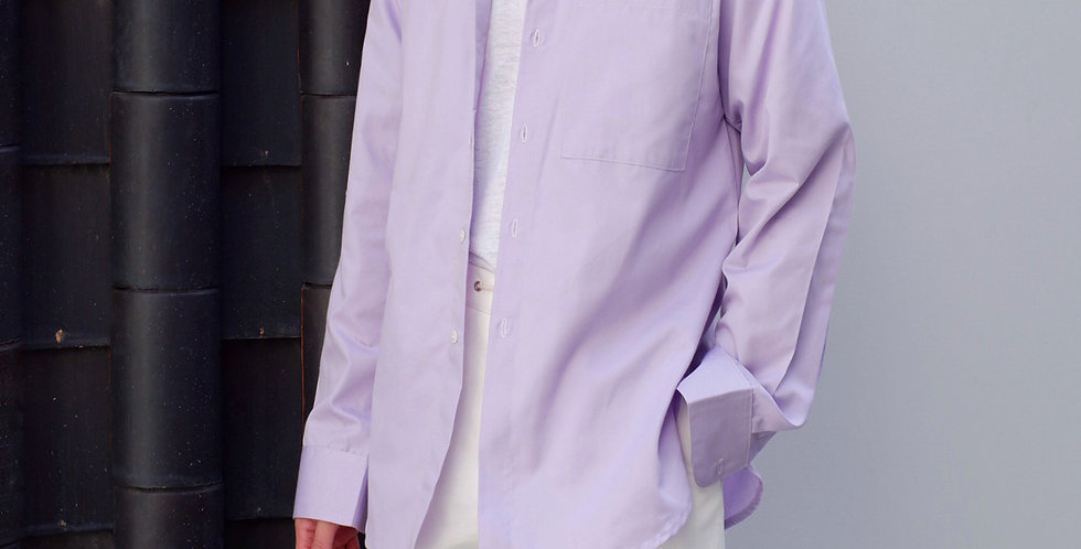 Curve Shirt Long Sleeve Purple