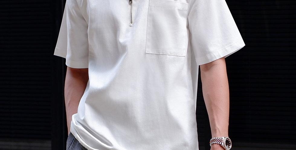 Half Zip Shirt White