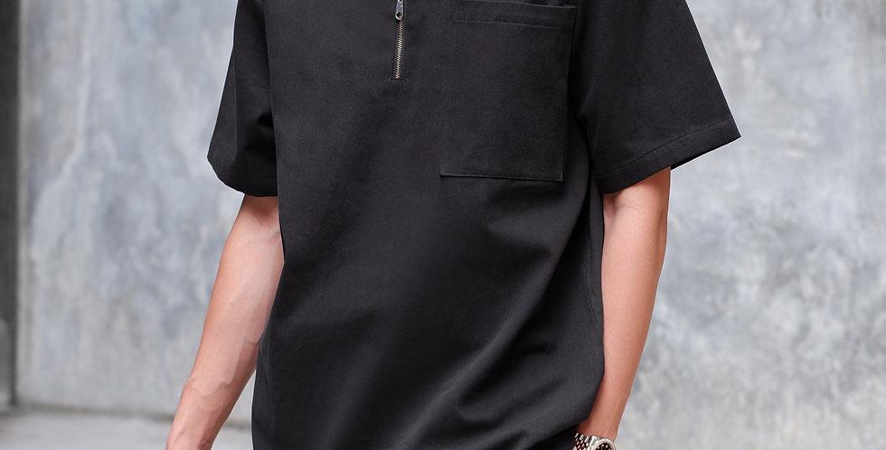 Half Zip Shirt Black