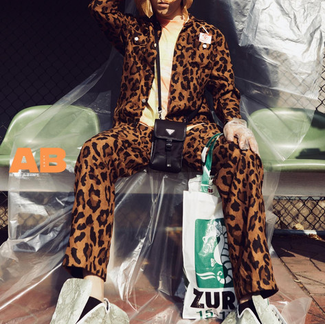 @mc_napat wearing Leopard Set for @aabmagazine