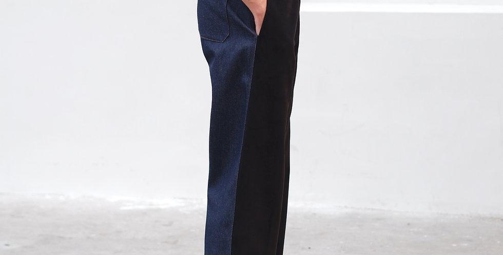 TwoTone Pants (Black-Denim)