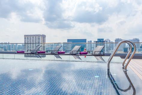 Premier Inn Singapore Beach Road Hotel Architectural Interior Photography by Siyuan Ma (Shiya Studio), rooftop, pool, swimming