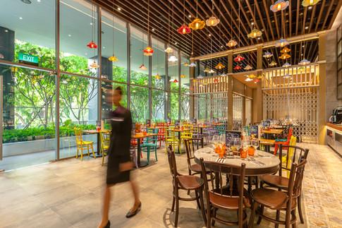 Premier Inn Singapore Beach Road Hotel Architectural Interior Photography by Siyuan Ma (Shiya Studio), restaurant