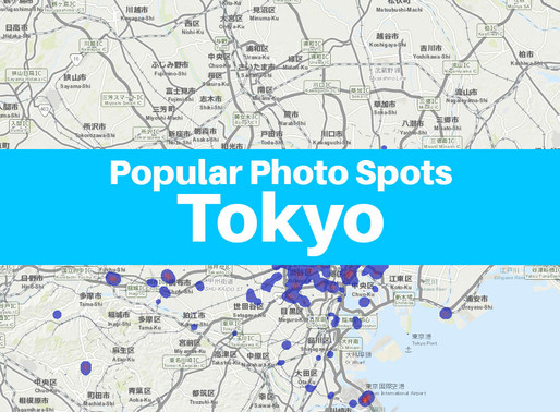 [Photography & GIS] - Popular Photo Spots in Tokyo - May 2019