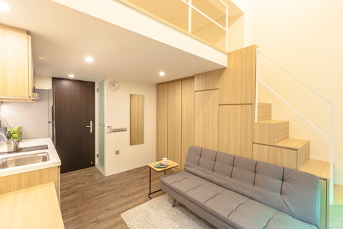 Interior design residential photography living room furniture decorated, by Siyuan Ma (Shiya Studio Singapore) stairs duplex