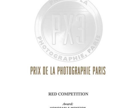 """Honorable Mention Winner of PX3's """"Red"""" Competition"""
