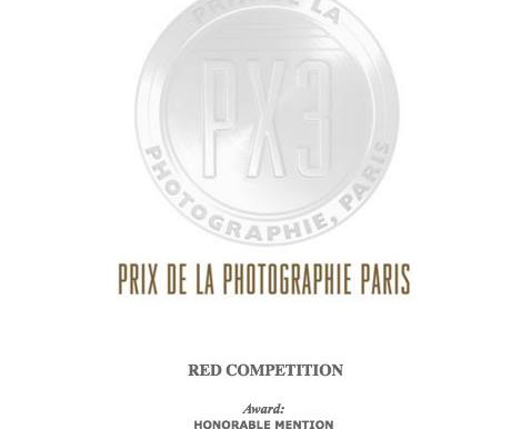 "Honorable Mention Winner of PX3's ""Red"" Competition"