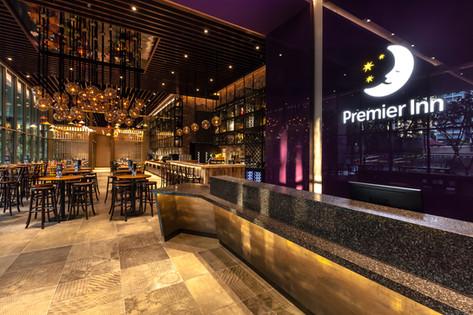Premier Inn Singapore Beach Road Hotel Architectural Interior Photography by Siyuan Ma (Shiya Studio), lobby, reception