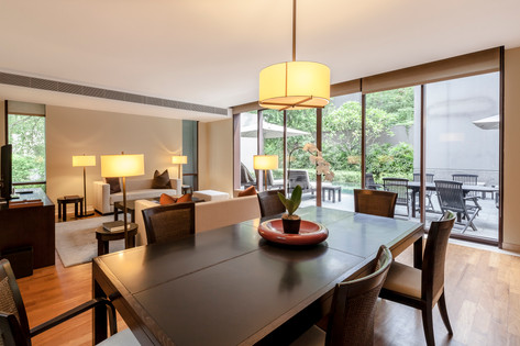 The Club Residences by Capella Singapore, luxury hotel resort interior living room photography, Siyuan Ma (Shiya Studio)