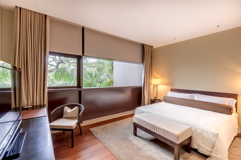 The Club Residences by Capella Singapore, luxury hotel resort interior bedroom photography, Siyuan Ma (Shiya Studio)