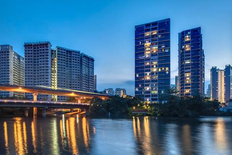 H2O Residences architectural exterior photography, City Development, photography by Siyuan (Shiya Studio)
