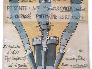 """Vendredi 21/09 à 20h30 : concert-projection """"Le cuirassé Potemkine"""""""