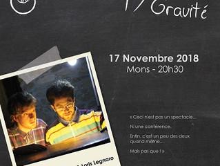 Conférence-spectacle le samedi 17/11 à 20h