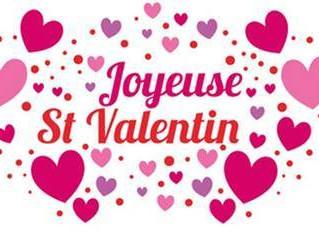 Menu St-Valentin du 13 au 16 février
