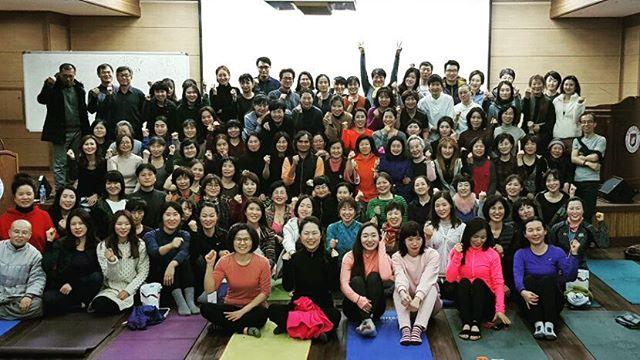 원광디지털대학교에서 저의 비윰요가 강의에 참석한 모든 선생님들께서 감사드립니다