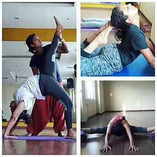 During Yoga teacher training (Asana prac