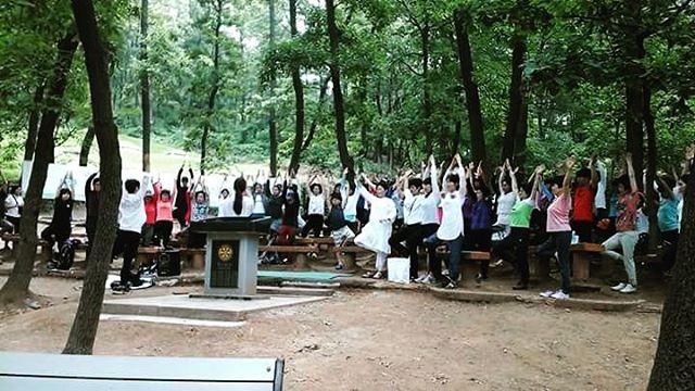 Outdoor Meditation, Yoga Day, 2016, Seoul (South Korea)