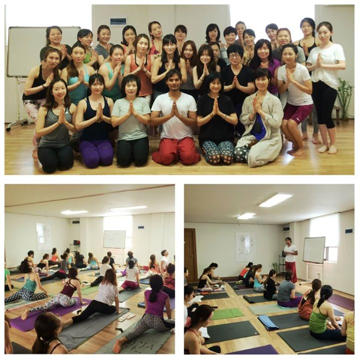 Chakra Yoga class in Busan city( South Korea) today. _Love and Pray to everyone