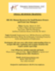 HR 101 1 page flyer March 2019 - yellow-