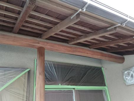 軒天井 木塗装