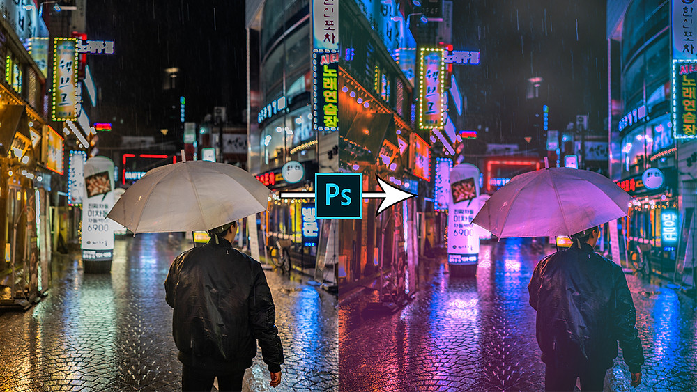 learn how to give cyberpunk effect to your image in photoshop
