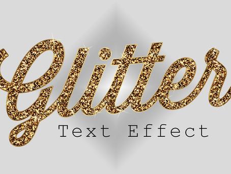Glitter Text Effect | Photoshop Effect | Photoshop Tutorial