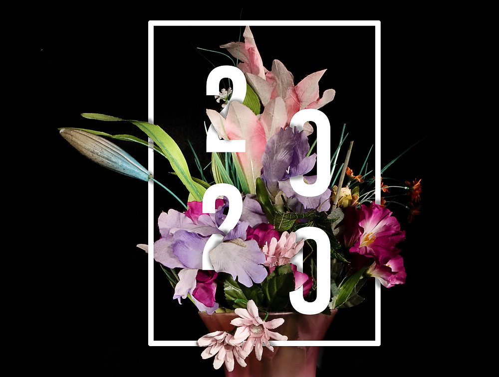 Floral typography text effect in photoshop