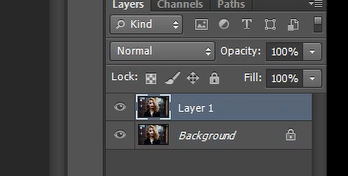 how to duplicate layer in Photshop