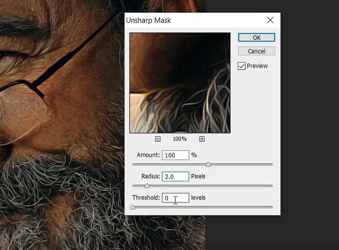 unsharp mask in photoshop