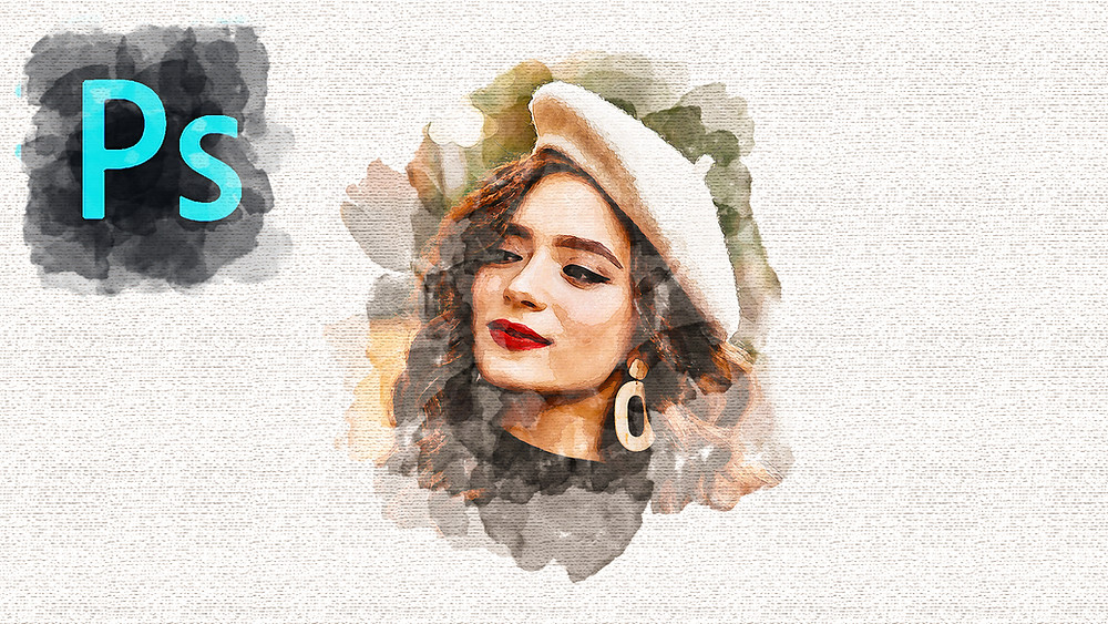 watercolor paiting effect in photoshop