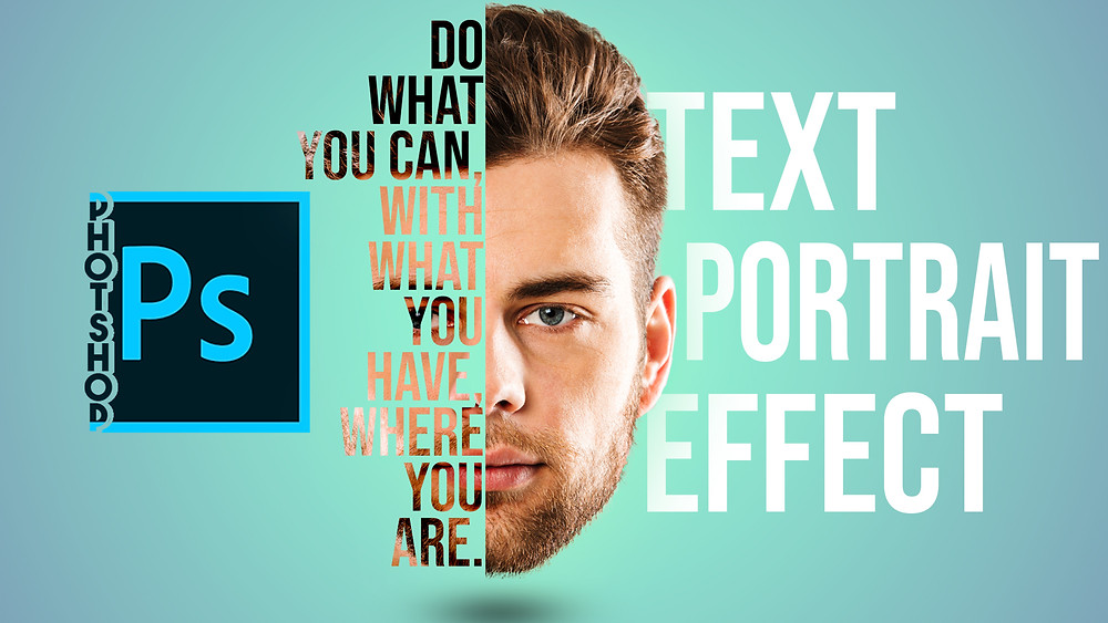 powerful text portrait effect in photoshop