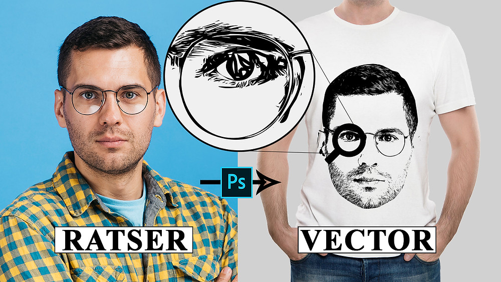 convert raster image to vector in photoshop