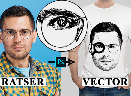 Convert Raster Image to Vector in Photoshop | Photoshop Tutorial