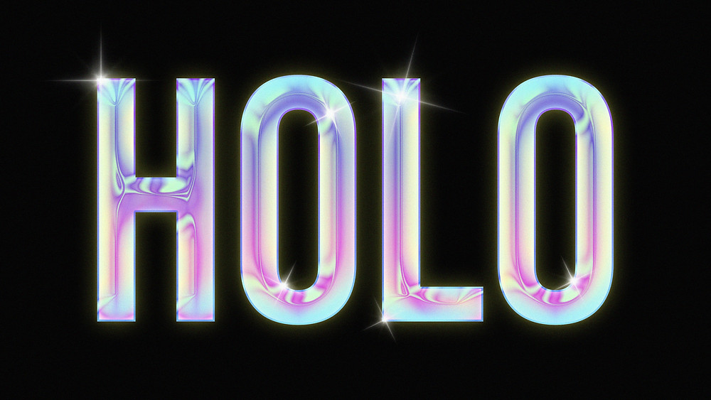 holographic text effect in photoshop