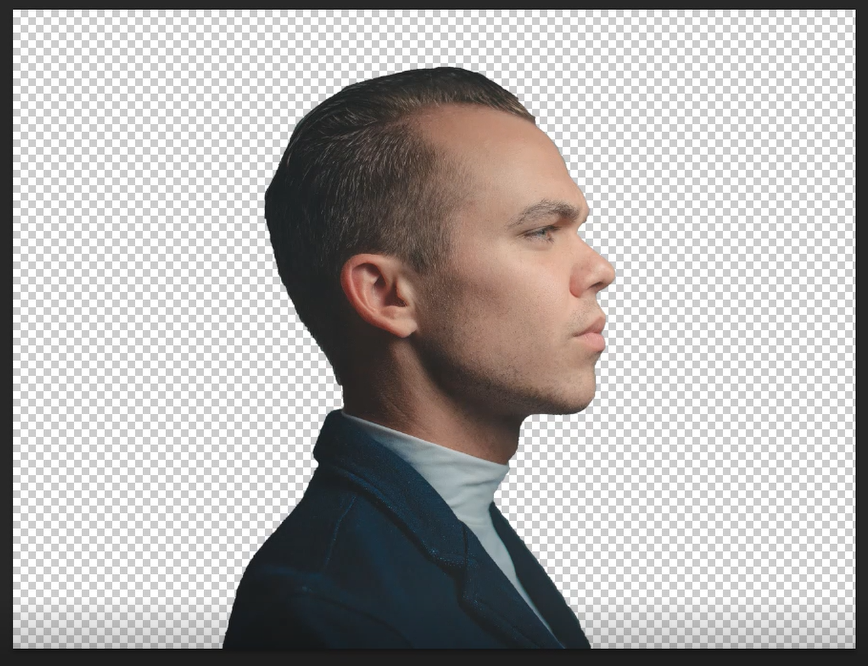 Remove background in the image using Layer mask icon