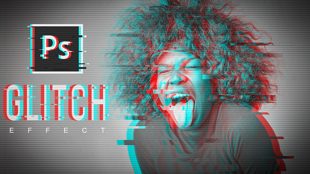 how to create glitch effect in photoshop
