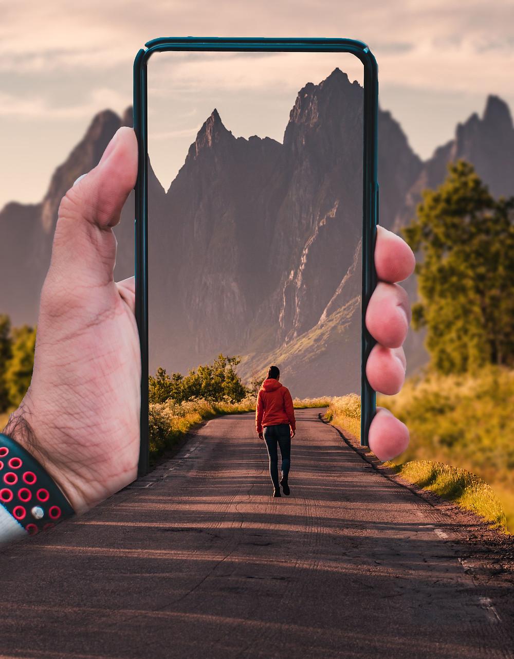 mobile 3d pop out effect photoshop