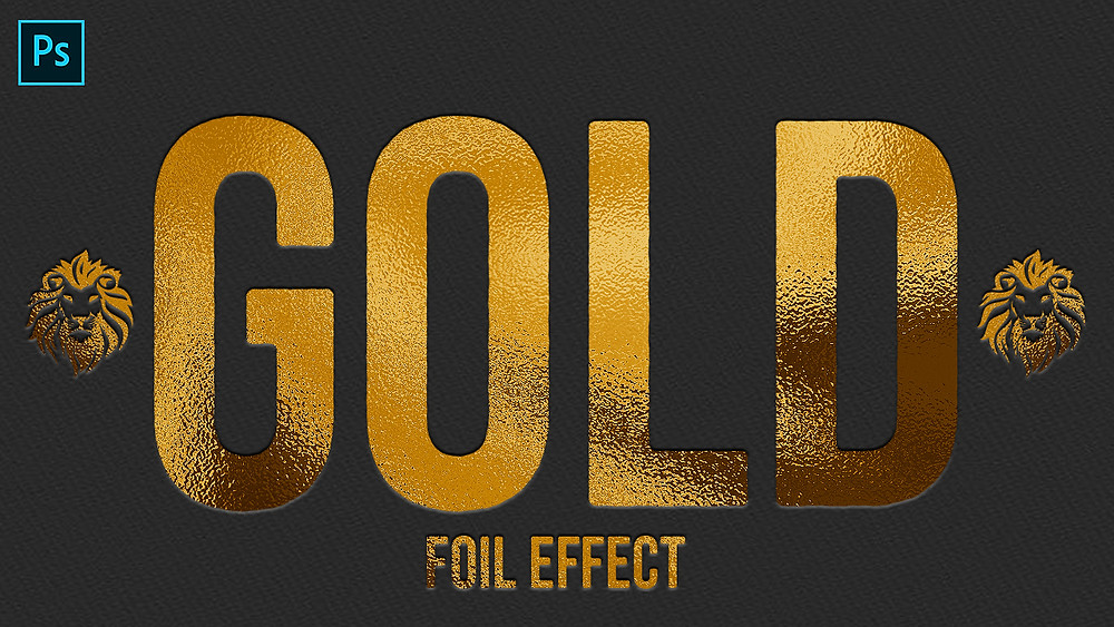 gold foil effect in photoshop