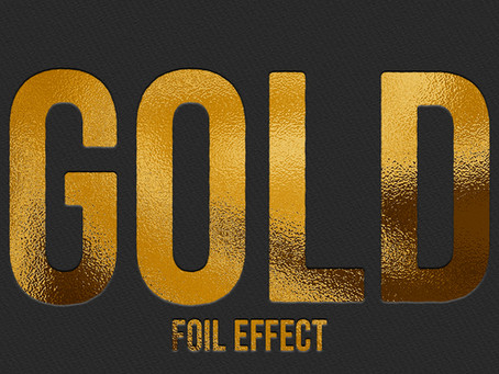 Gold Foil Effect | Photoshop Effect | Photoshop Tutorial