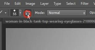 toggle brush panel icon photoshop