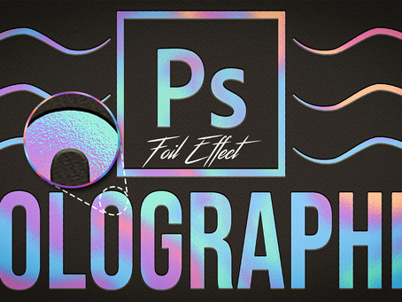 Holographic Foil Texture | Text Effect | Photoshop Tutorial