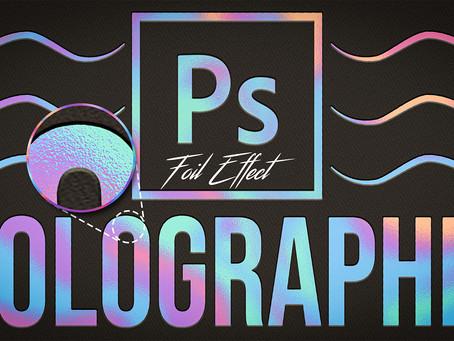 Holographic Foil Texture | Text Effect | Photoshop Tutorial