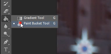 paint bucket tool icon in Photoshop