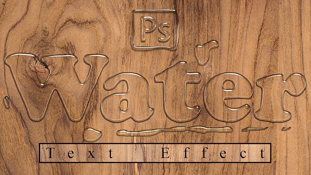 how to create water text effect in photoshop